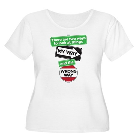 my way Women's Plus Size Scoop Neck T-Shirt