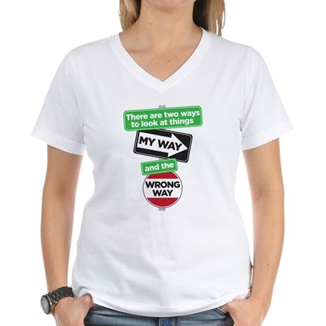 my way Women's V-Neck T-Shirt