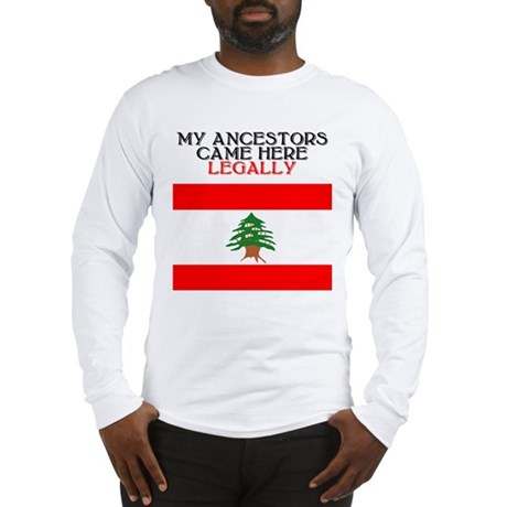 Lebanese Heritage Long Sleeve T-Shirt