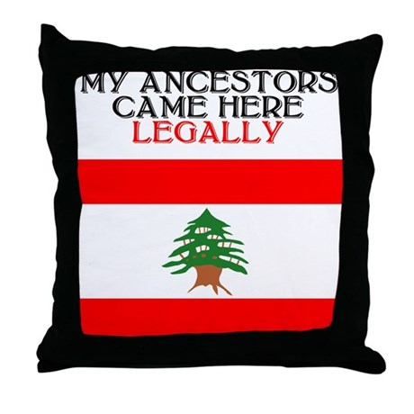 Lebanese Heritage Throw Pillow