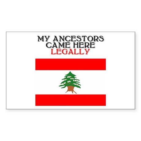 Lebanese Heritage Rectangle Sticker