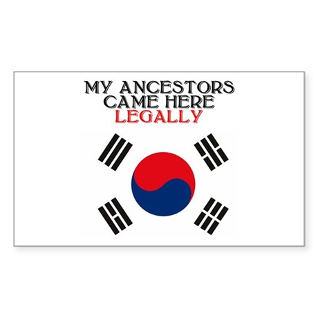 Korean Heritage Rectangle Sticker
