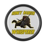 Honey Badger Whisperer Large Wall Clock