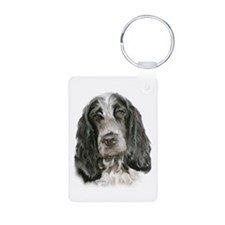 English Cocker Portrait Two Keychains