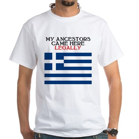 Greek Heritage White T-Shirt