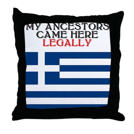 Greek Heritage Throw Pillow