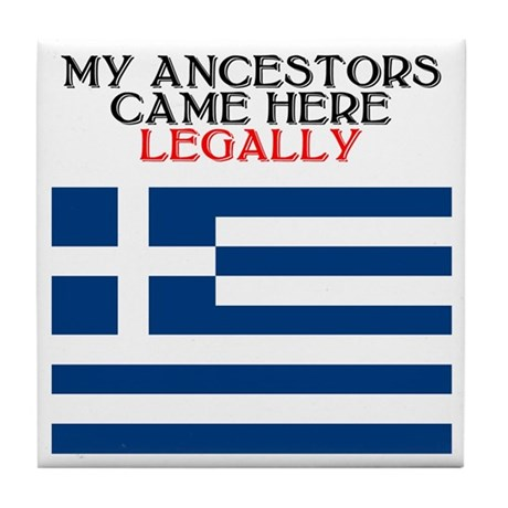Greek Heritage Tile Coaster