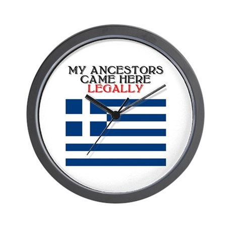 Greek Heritage Wall Clock