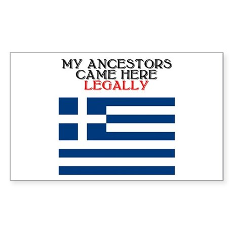 Greek Heritage Rectangle Sticker