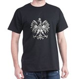 Polish Eagle Emblem Black T-Shirt