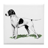 English Pointer Standing Tile Coaster