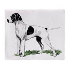 English Pointer Standing Throw Blanket