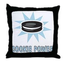 Cookie Power-1 Throw Pillow