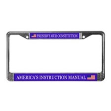 US Constitution License Plate Frame