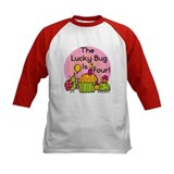 Cupcake Ladybug 4th Birthday Tee