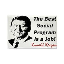 """""""Ronald Reagan: Get A Job!"""" Magnet"""