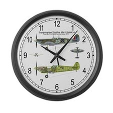 Spitfire Cutaway Large Wall Clock