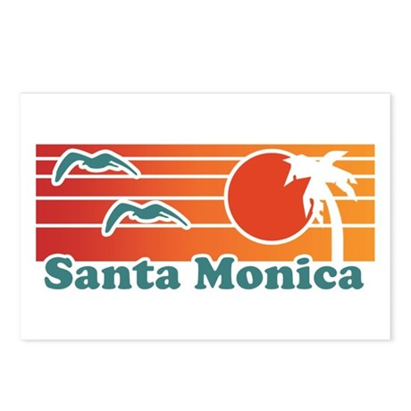 Santa Monica Postcards (Package of 8)