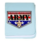 US Army RWB Shield baby blanket