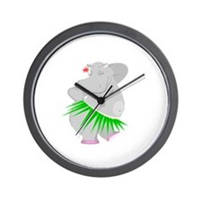 Hula Hippo Wall Clock