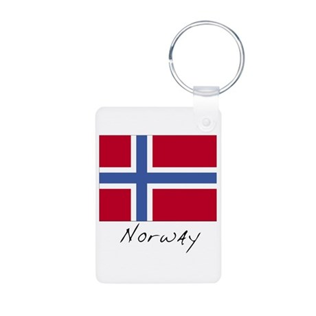 Norway (Flag, International) Aluminum Photo Keycha