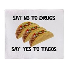 Funny Drugs Tacos Throw Blanket
