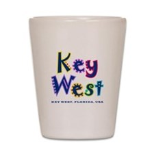 Key West Tropical Type - Shot Glass