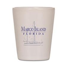 Marco Island Sailboat - Shot Glass