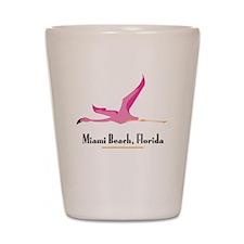 Miami Beach Flamingo - Shot Glass