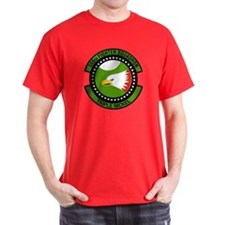 555th Fighter Squadron Black T-Shirt