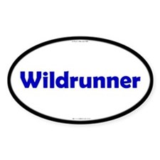 Wildrunner Blue Server Oval Decal