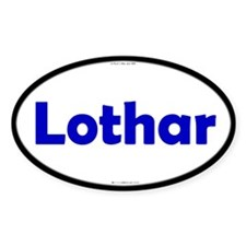 Lothar Blue Server Oval Decal