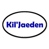 Kil'Jaeden Blue Server Oval Stickers