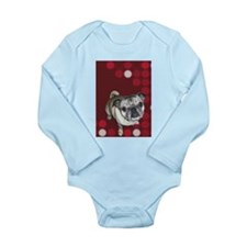 Mod Pug Long Sleeve Infant Bodysuit