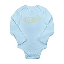 evo-Pug-lution Long Sleeve Infant Bodysuit
