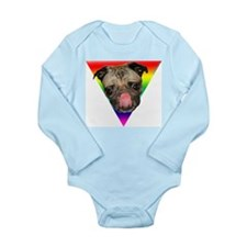 Pug Pride Long Sleeve Infant Bodysuit
