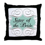 Sister of the Bride Beautiful Throw Pillow