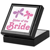 Sister of the Bride Butterflies Keepsake Box