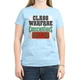 No Class Warfare Wmns Pink Tee