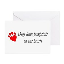 Dog Heartpaws Greeting Cards (Pk of 10)