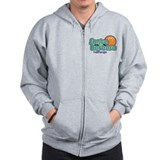 Santa Barbara California Zipped Hoody