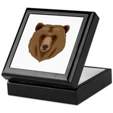 Brown Bear - Grizzly head Keepsake Box
