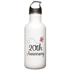 20th Anniversary Gift Butterfly Water Bottle