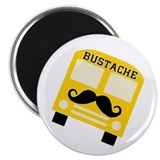 Bustache Bus Mustache Magnet