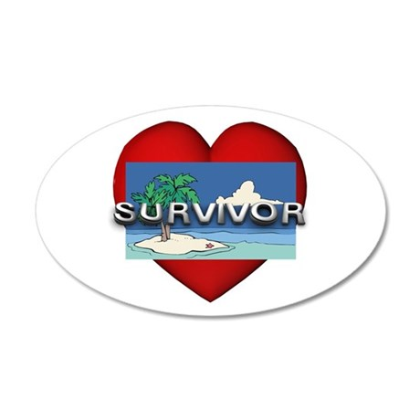Survivor Love 20x12 Oval Wall Decal