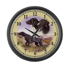German Pointer Large Wall Clock
