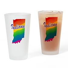 Gay Pride Rainbow Indiana Pint Glass