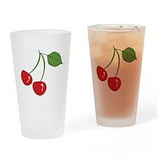 Retro Cherry Pint Glass
