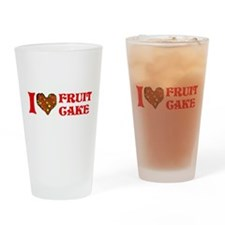 I Love Fruitcake Pint Glass