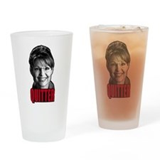 Sarah Palin Quitter Pint Glass